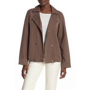 Lafayette 148 Maxton twill snap double breast m